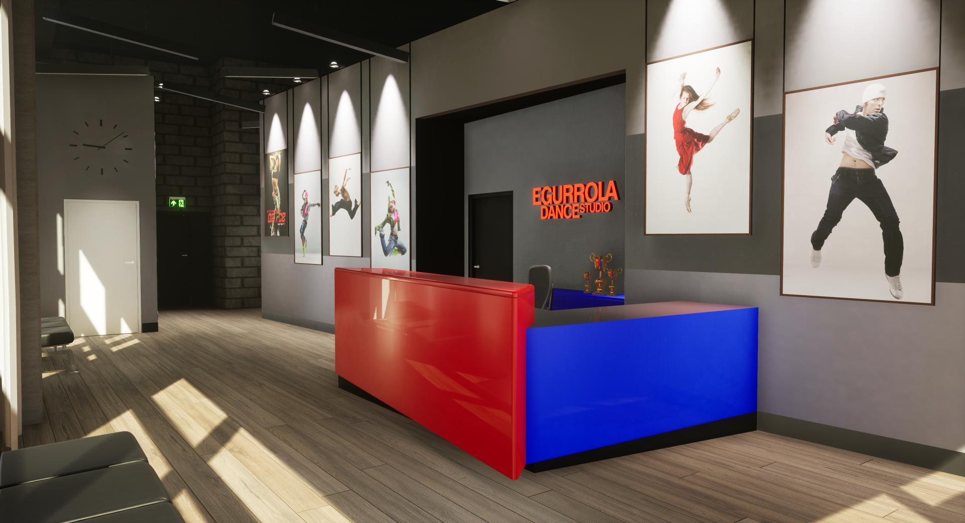Egurrola Dance Studio – wizualizacja